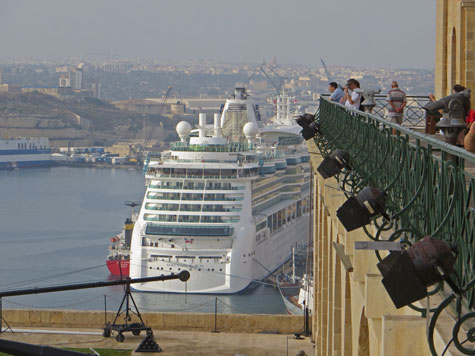Port of Valletta in Malta